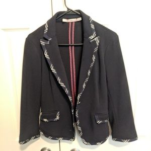 Navy blue stretch blazer